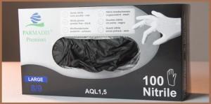 Gants noirs de Protection en Nitrile