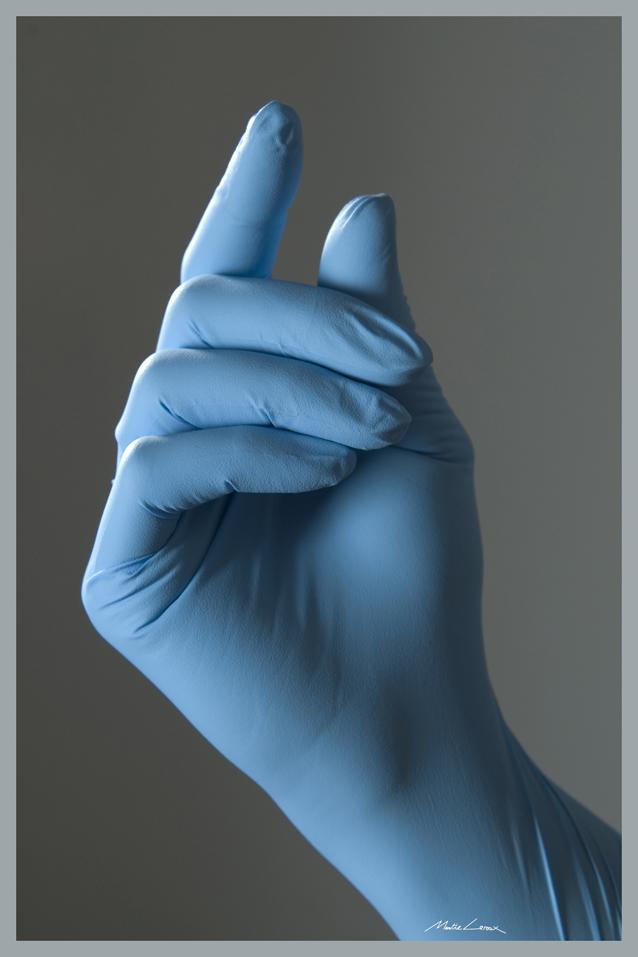Gant en nitrile bleu