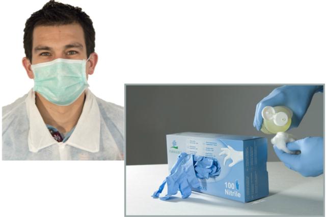 masque et gants de dentiste