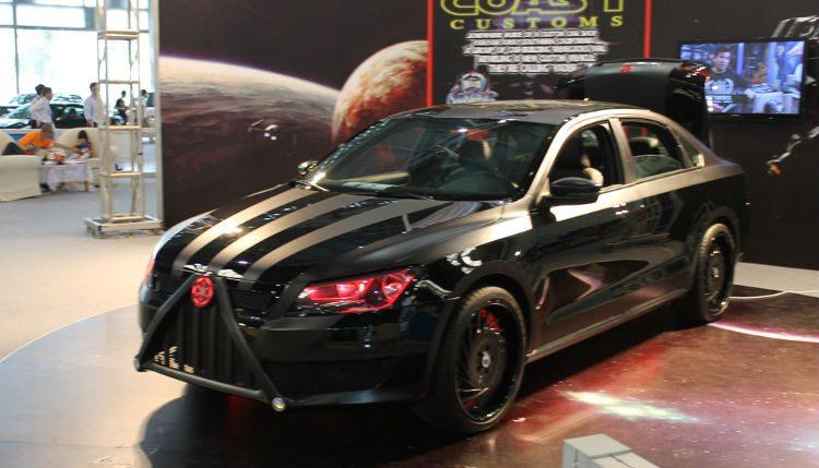 Volkswagen Passat dark vador transformée par street custom