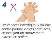 Se laver les mains avec du Gel hydroalcoolique - Etape 4