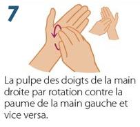 Désinfection des Mains - Gel Hydroalcoolique - Etape 7