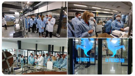 Visite de l'Usine de Cluses de Savoy International par la Ministre déléguée à L'industrie, Agnès Pannier-Runacher le 8 Octobre 2020